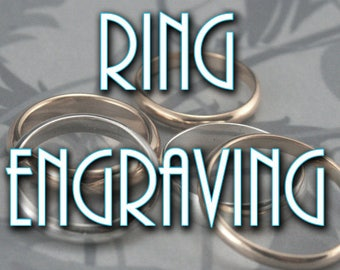 Inside Ring Engraving~Professional Personalized Ring Engraving~Wedding Bands Add a Date or Name~Custom Engraving~Engraved Bands