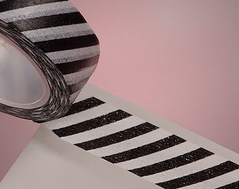 Mothers Day Sale 10 Yards of Colorful Cute Diagonal Stripe Pattern Washi Tape 10 to Choose From