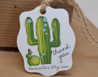 Southwest Cactus Gift Tags Thank You Tag Hang Tag Price Tag - DS007