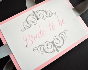 Bride and groom chair signs with crystals, Bridal Shower Chair Sign, Chair Signs