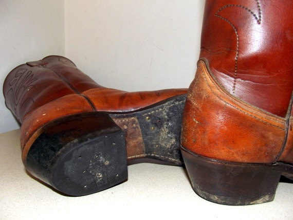 cowboy Two Vintage Brown tone Funky boots w7IqSxU174
