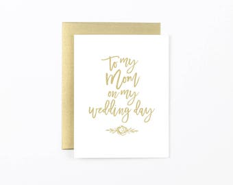 to my mom wedding card, mother of the bride card, to my mom card, mom wedding day card, mom thank you card, wedding stationery