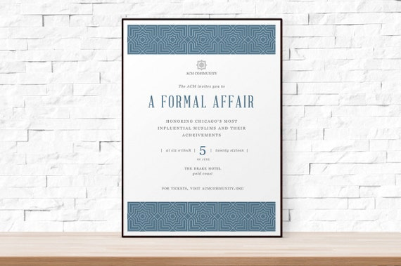 Diy Printable Event Flyer Template Formal Gala Invitation Word