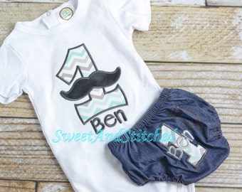 Boys First (1st) Birthday Mustache Outfit Personalized! -  Boy 1st Birthday Shirt Boy, 1st Birthday Shirt Mustache, Mustache Birthday shirt