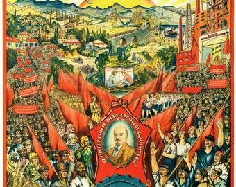 October Revolution 10 (100) anniversary / USSR Poster / 1927 / 2