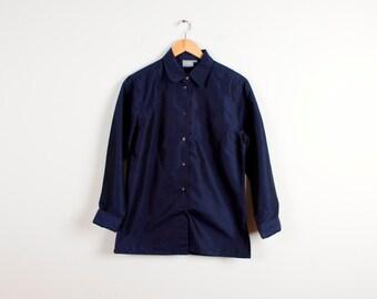Navy Blue Shirt Long Sleeve Business Formal Shirt Men Summer Shirt Minimalism Casual Style Cotton Shirt Size Medium
