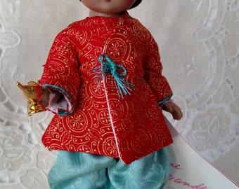 "Storyland 8"" Madame Alexander Doll ""Aladdin"" #482 Restrung, Box & Wrist Tag"