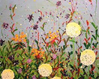 Giclee print of original painting flowers