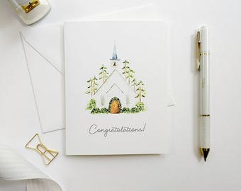 Wedding Congratulations Card, Bridal Shower Card, Hand-Painted Card, Watercolor Bridal Shower Card, Watercolor Card, Wedding Card
