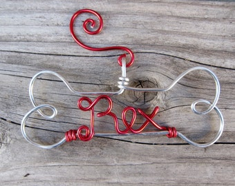 Personalized Dog Ornament / Pet Ornament/ Wire Ornament / Holiday Ornament/ Holiday Gift / Couples Gift