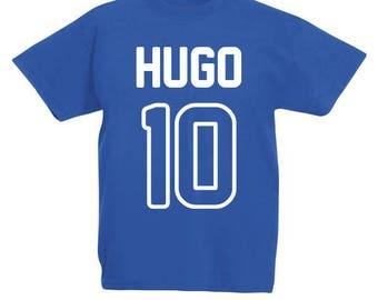 Personalized kids football T-shirt