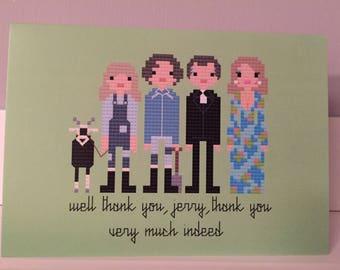 The Good Life blank greeting card.