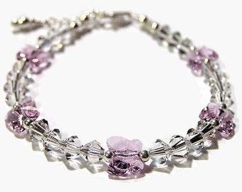 Little Girl Butterfly Bracelet