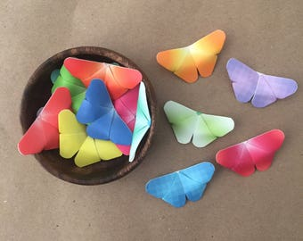 Ombre 3D Origami Butterflies, Set of 32