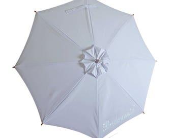 """Wedding """"Bridesmaid"""" Sun Umbrella. Stunning  Sunbella Sun Parasol, Anti UV Umbrella. Bridesmaid Gift. UPF50+. Blocks 98%+ UV rays.  SD15EBM"""