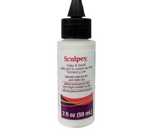 Sculpey Polyform BAKE AND BOND Bakable Adhesive for Oven Bake Polymer Clay 2 oz