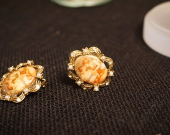 vintage antique costume jewelry earring