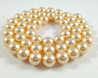 5810 LIGHT GOLD 6mm Swarovski Crystal Pearls 50pcs or 100pcs