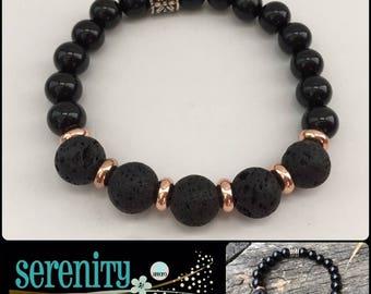 SERENITY Onyx Aromatherapy Bracelet