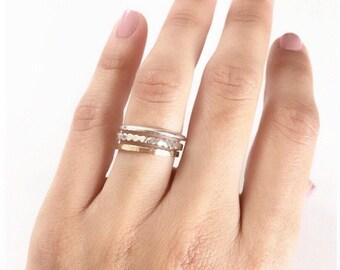 Gold Ring, Stacking Gold Ring, Stacking Ring Set, Sterling Silver Ring, Midi Ring, Silver Ring, Dainty Ring, Ring Set, Band Ring