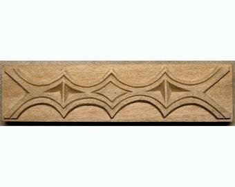 Oshiwa Carved Wood Printing Stamp, African Design, 10.25'' x 2.5'', Item 23-5-75