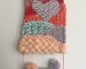 Rainbow heart weaving