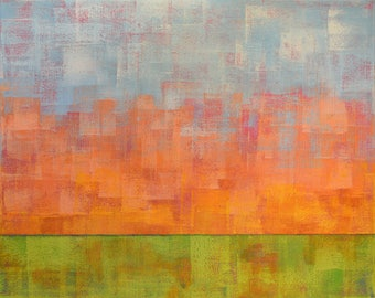 Abstract Landscape Painting ... 16x20 Canvas ... Landscape Painting ... Original Artwork  ... Ready to Hang ... Canvas Art ... Contemporary