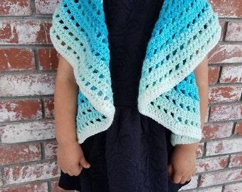 Crochet circular shawl cover up