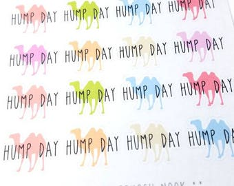 SALE! Hump day planner stickers - Erin Condren - Happy Planner - Wednesday - mid week - camel - Christmas Gift