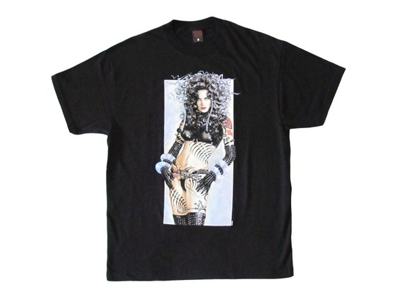 Vintage Olivia De Berardinis 'Smokin' Pin Up T-Shirt