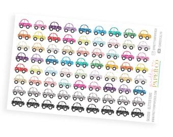 Glitter Cars - Planner Stickers