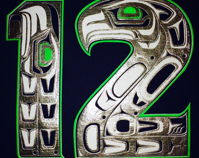 NW Coast Haida 12 on hoodies and tees