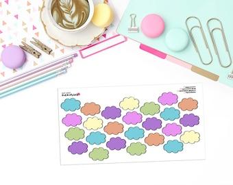 DOODLE CLOUDS Paper Planner Stickers! - DOOD240