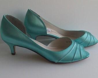 Wedding Shoes Bridal Shoes Blue Wedding Shoes Aqua Wedding Shoes PICK FROM 100 COLORS Bridesmaid Shoes