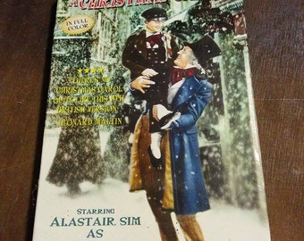 50s VHS Tape / A Christmas Carol / Scrooge / Christmas Movie / Holidays / Video Cassette / 1951