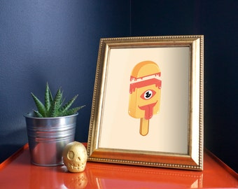 One-Eyed Melty Pop 8x10 Art Print by Odds And Aliens