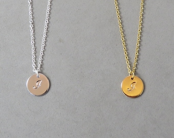 Engraved Initial I Necklace