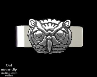 Owl Money Clip Sterling Silver