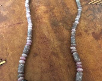 Lepidolite  Beaded Necklace