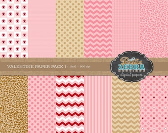 DIGITAL PAPER - Valentines 1