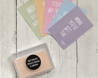 Mummy Gift Set, Mummy Wellness Milestones, Affirmations, Milestone Cards, Positive Affirmation Cards, Baby Shower, Positive Affirmations,