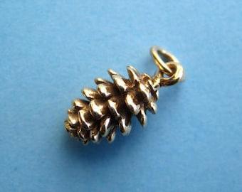 Bronze Woodland Pine Cone Charm