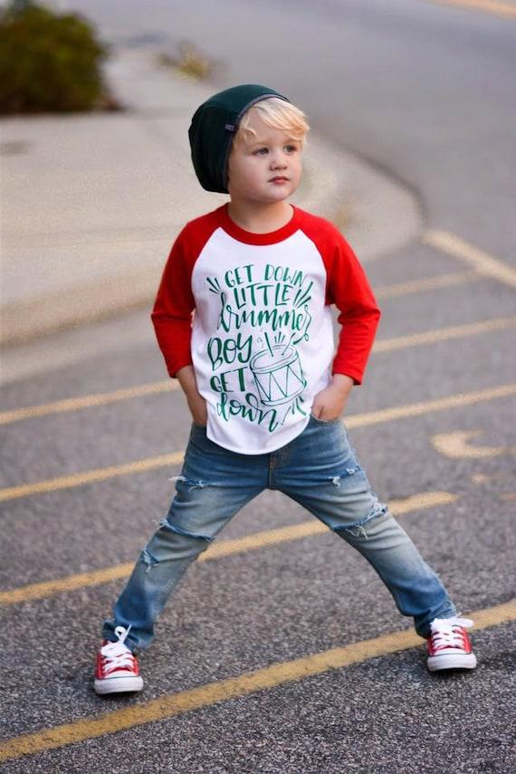boy christmas raglan baby boy Christmas outfit toddler boy