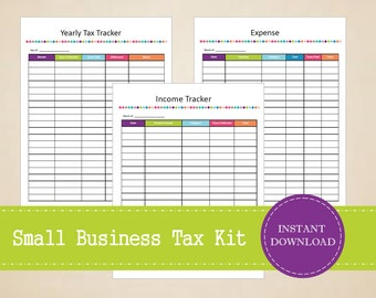 Small Business Tax Kit - Printable and Editable - INSTANT PDF DOWNLOAD