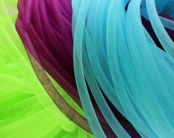 80 Yards Mesh Tubing Cord 8mm Fashion Stardust Bracelet/Necklace Cord Jewelry Accessory YTF06