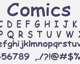 Comics Font Embroidery Design Now Come with .BX Ready Font!