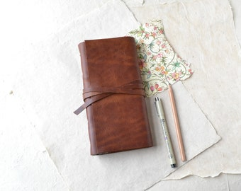 Slim Rustic Leather Journal