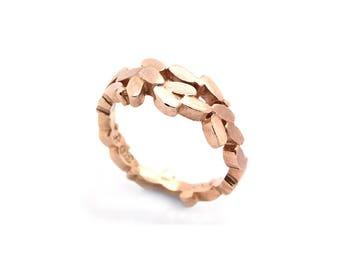 9ct rose gold laurel ring, laurel wreath ring, rose gold grecian ring, rose gold leaf ring