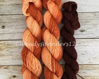 Sock Yarn, Gradient sock yarn, Sock Yarn Set, Toe/Heel Sock Yarn,  Hand Dyed Yarn, For Sock Knitting, Yarn Set