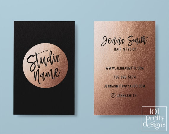Rose gold business card makeup business card black gold colourmoves